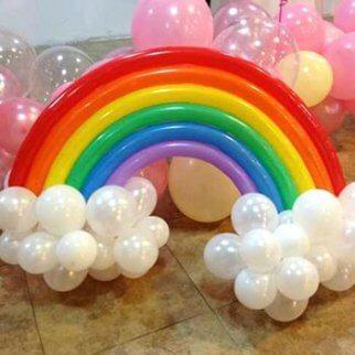 Versieren met ballonnen: regenboog