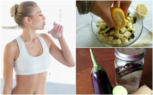 Auberginewater met citroen helpt om gewicht te verliezen