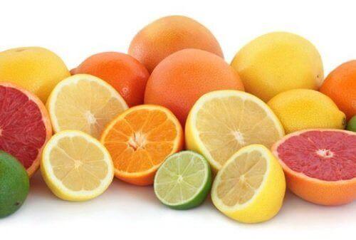 Citrus is ook vezelrijk voedsel