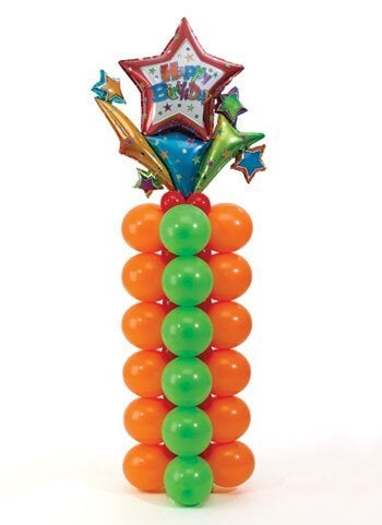 Versieren met ballonnen: zuil