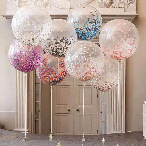 Versieren met ballonnen: doorzichtige ballonnen