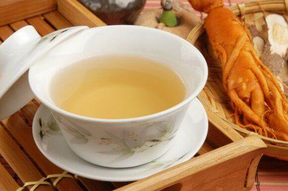 Thee gemaakt van ginseng