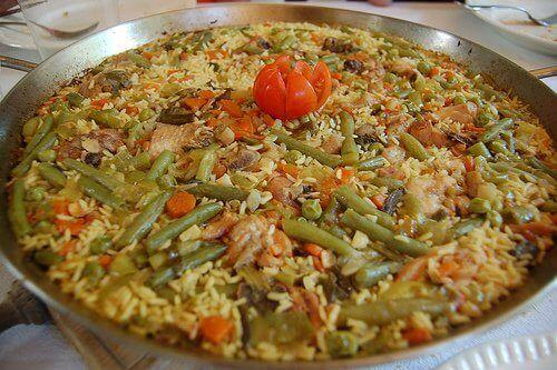 Voorbeeld van Valenciaanse paella