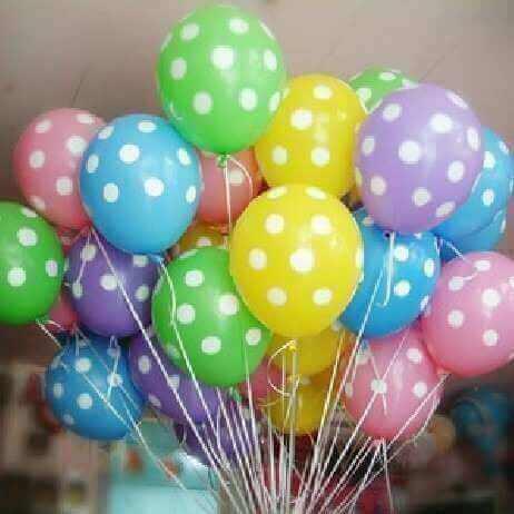 Versieren met ballonnen: polkastippen