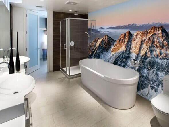 Een praktische badkamer in een minimalistisch huis