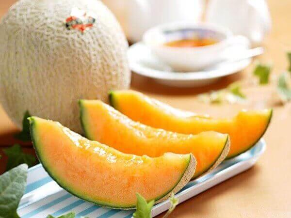 Gesneden cantaloupe