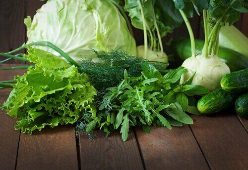Sla en spinazie