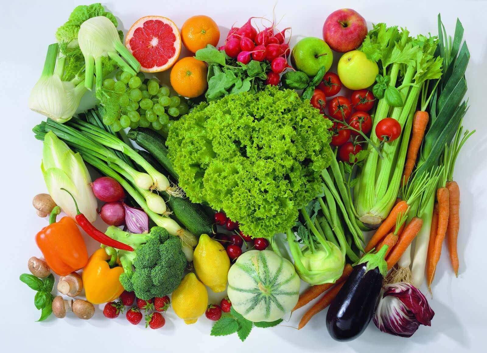 Verschillende soorten groenten