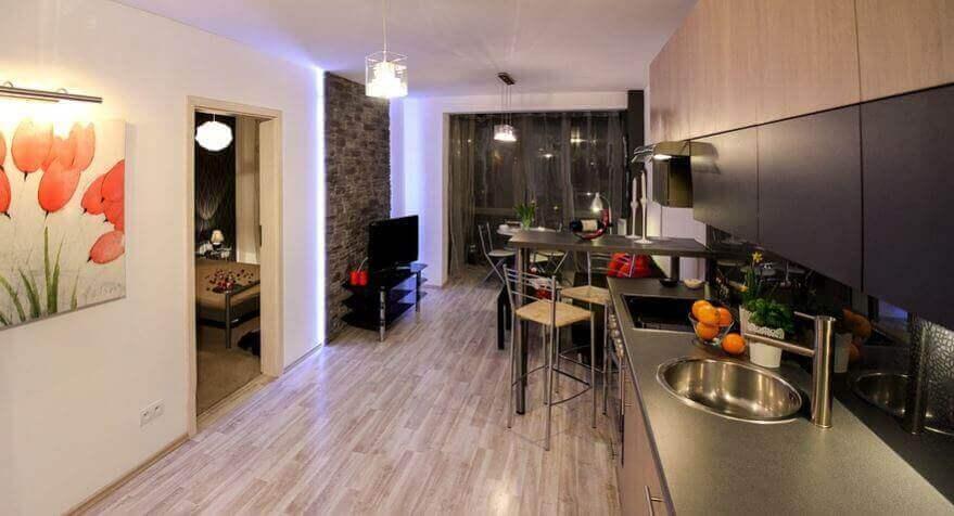 Noordelijk minimalisme stijlvolle interieurs van een badkamer