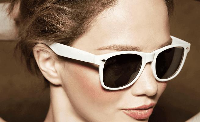 Goedkope witte zonnebril