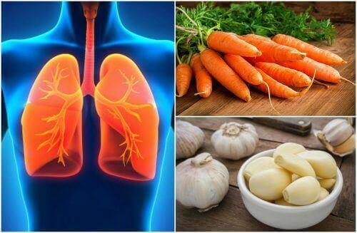 7 voedingsmiddelen die de gezondheid van de longen verbeteren