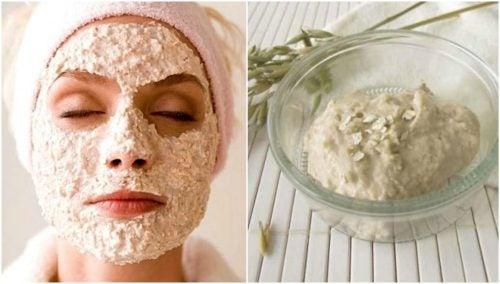Zelfgemaakt masker met yoghurt om mee-eters te bestrijden