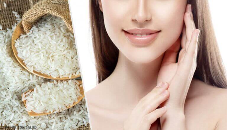 Een mooie huid met deze behandelingen gemaakt van rijst