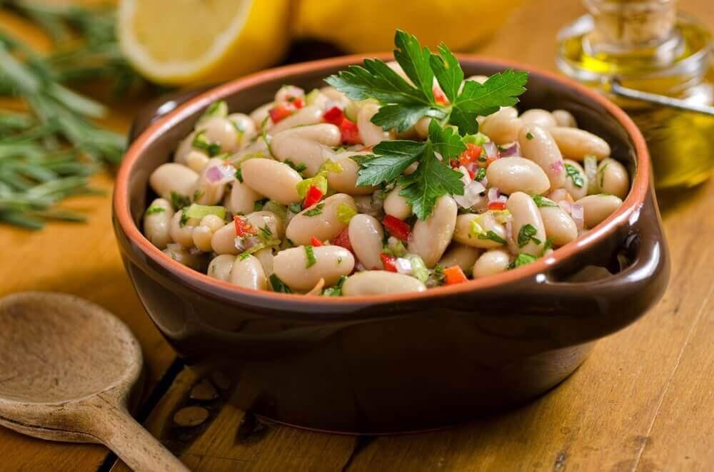 Salade met bonen