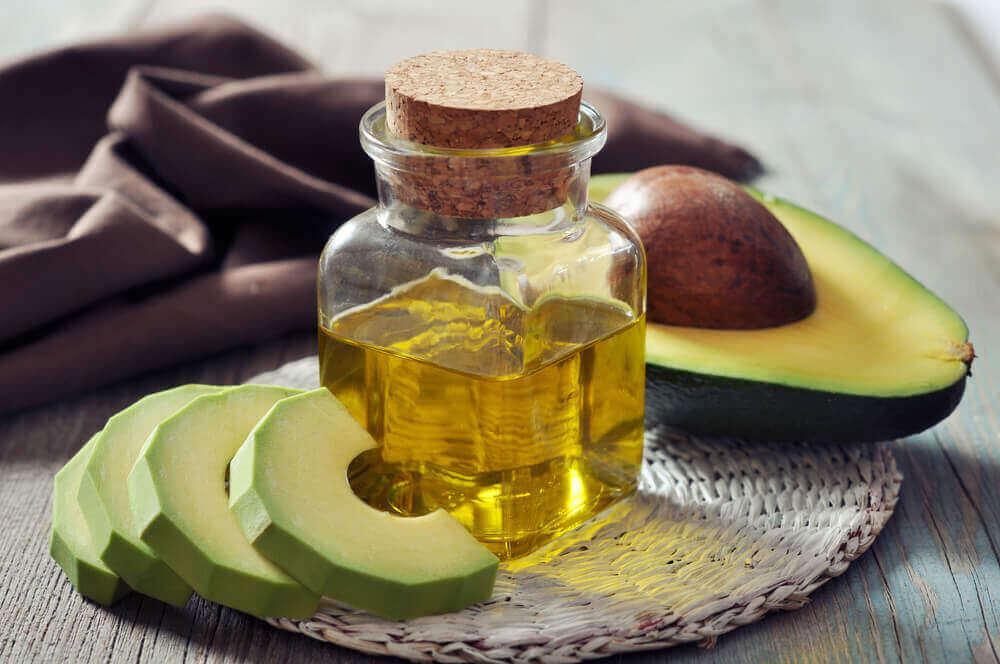 Avocado en olijfolie