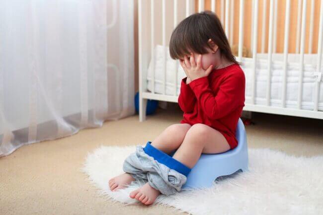Kind met buikgriep