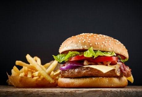 Hamburgers zijn te vermijden ongezonde voedingsmiddelen
