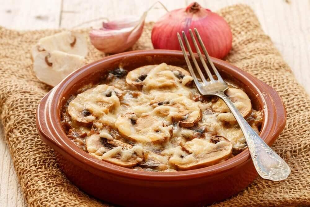 Recept voor een eenpansgerecht van champignons