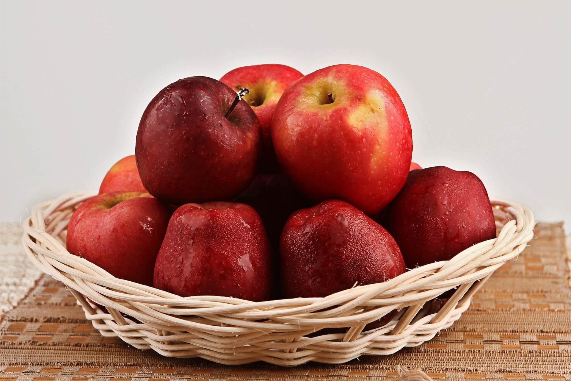 Een gezond hart: mand met appels