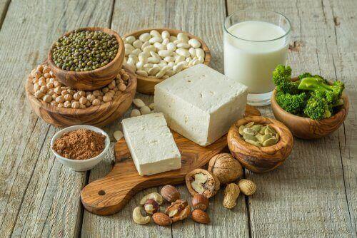 Ingrediënten van een veganistisch dieet om gewicht te verliezen