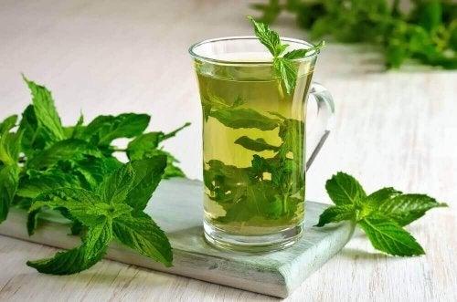 Munt en kurkuma thee helpt tegen winderigheid