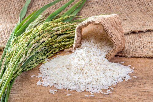 Rijst om groene rijst te maken