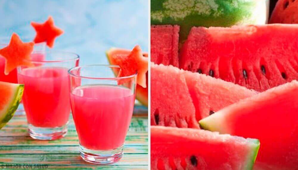 Vochtafdrijvende smoothies met watermeloen