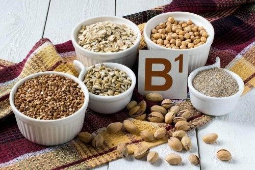 Voedsel dat rijk is aan vitamine B