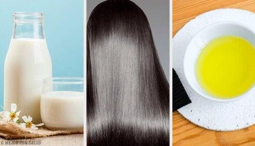 Tips en natuurlijke maskers voor prachtig haar