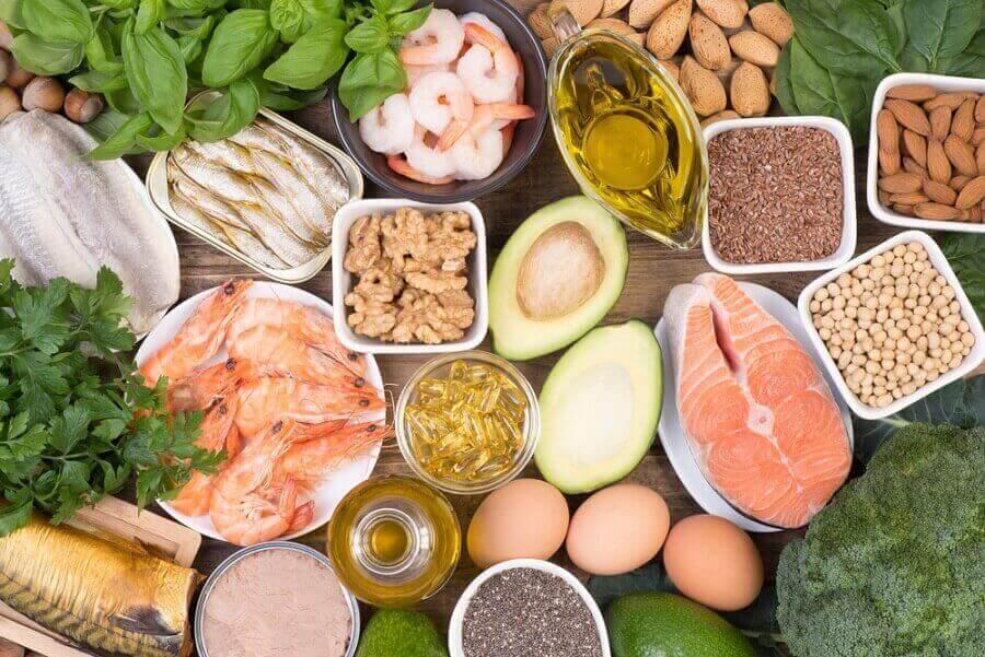Groente, vis en olie