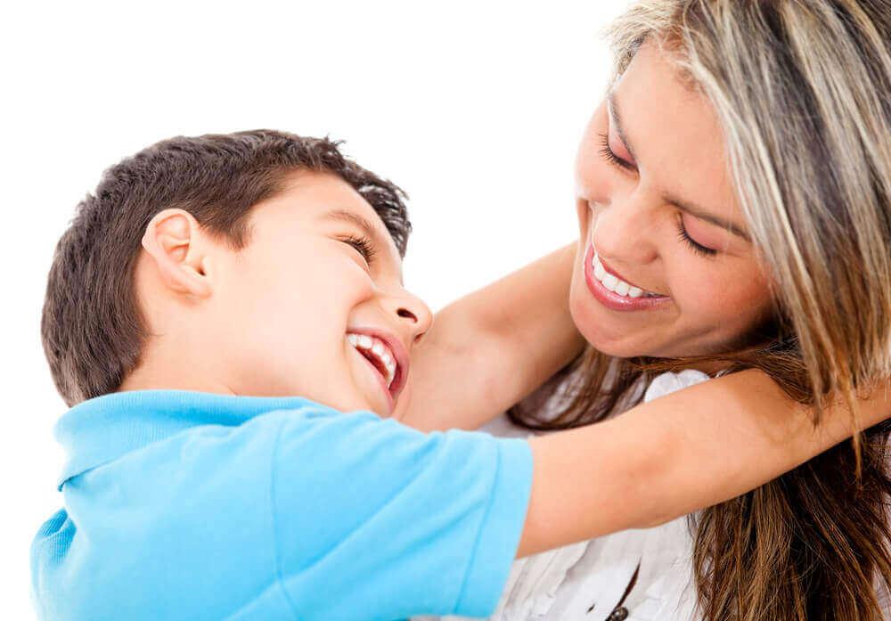 Een liefhebbende moeder en zoon