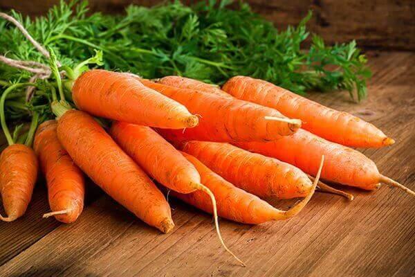 Een bosje wortels