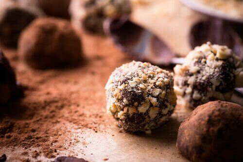 Caloriearme chocoladetruffels