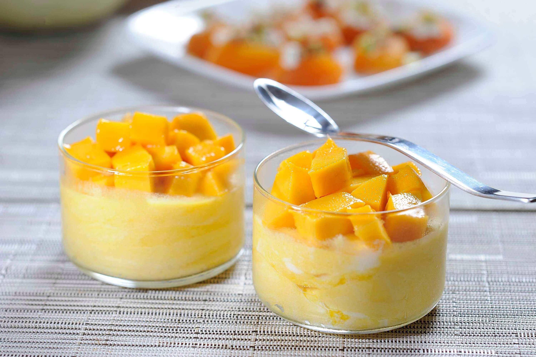 Voedzame desserts: mousse van mango