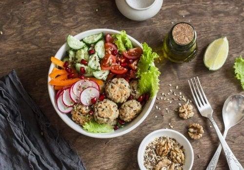 Vegetarische gehaktballen van quinoa en kikkererwten
