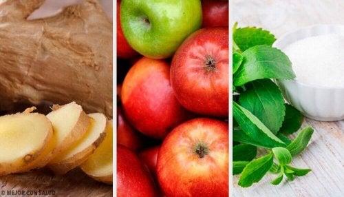 Te veel gegeten? Probeer deze drank van gember, stevia en appel!
