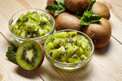 Eén van de voordelen van kiwi's is de hoeveelheid vitamine C