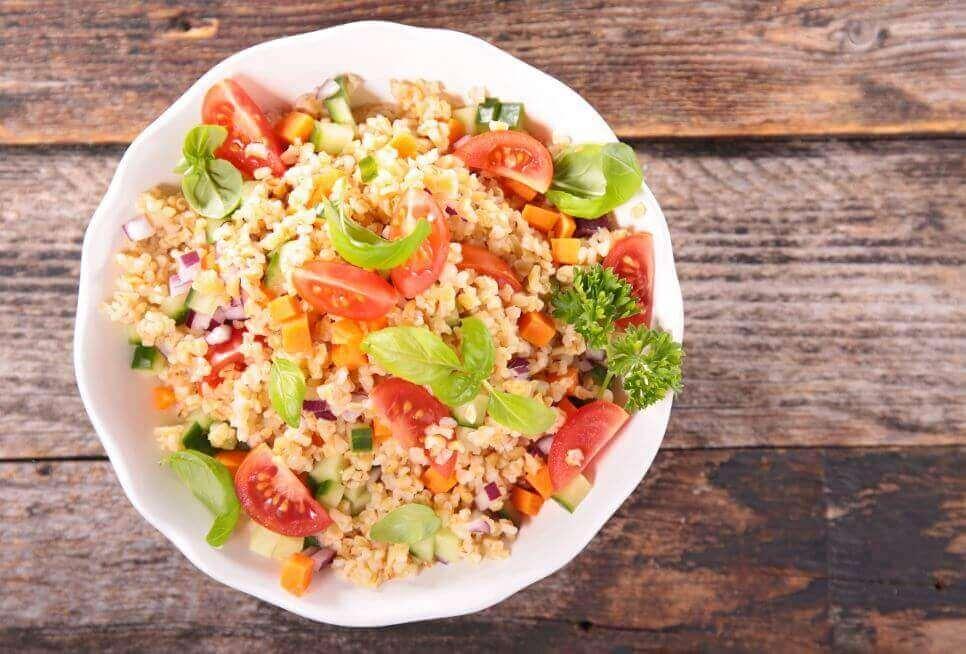 Een van die heerlijke salades met quinoa