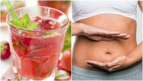 Je lichaam zuiveren met aarbei-citroenwater