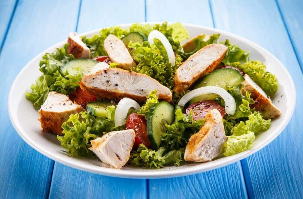 Een salade van artisjok