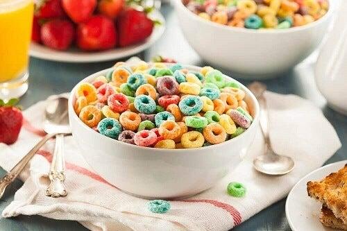 Eet geen gesuikerde ontbijtgranen