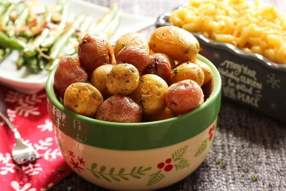 Schaal met aardappelen