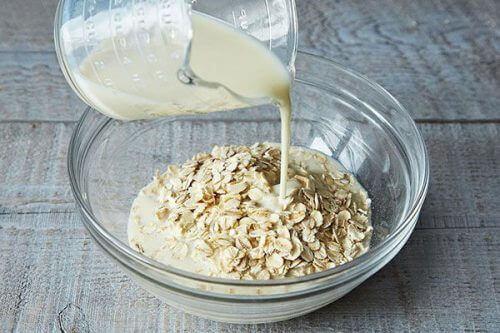 Rijst en haver en melk