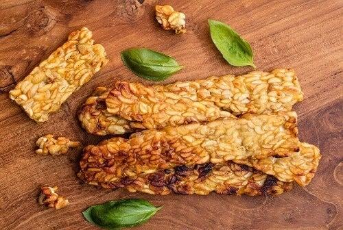 Tempeh is een uitstekend probiotisch voedingsmiddel