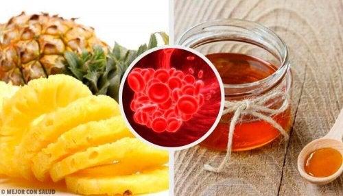 Planten en voedsel om bloedstolling te voorkomen