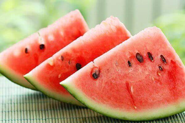 Gesneden watermeloen