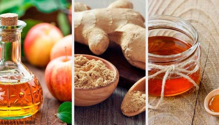 Effectief tonic van appelazijn, gember en honing