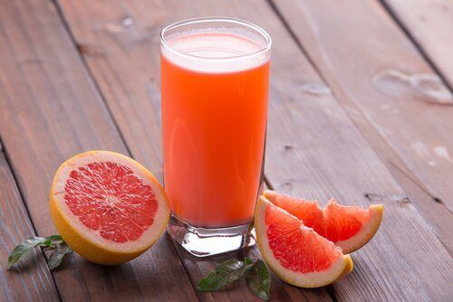 Glas grapefruitsap