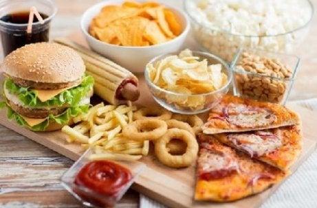 Allerlei ongezond voedsel