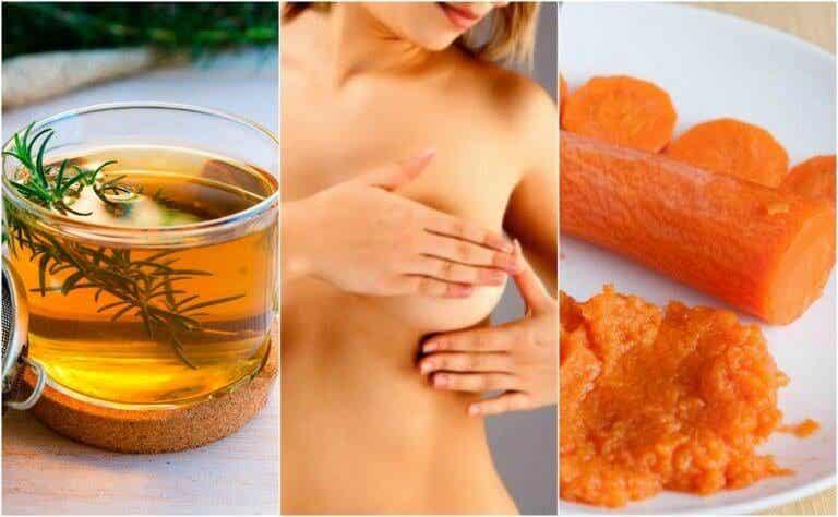 6 behandelingen voor het verlichten van mastitis